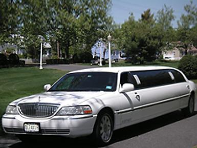 10 Passenger White Limousine